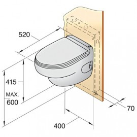 Toaleta przyścienna typ HATO