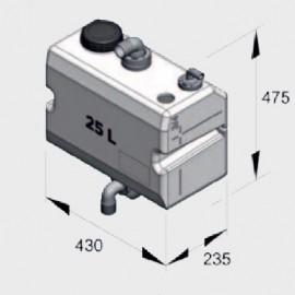 Zbiornik ścieków 25L - pionowy montaż