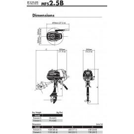 Silnik Tohatsu MFS 2,5