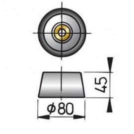 Anoda cynkowa kadłuba typ 8