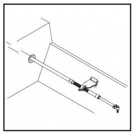 Mocowanie pawężowe liniki sterowania