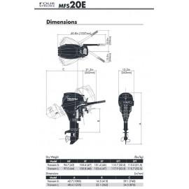 Silnik Tohatsu MFS 20E - NOWOŚĆ