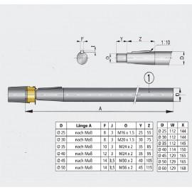 Wał śrubowy średnica 45mm